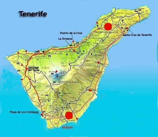 Lentokenttä Teneriffa